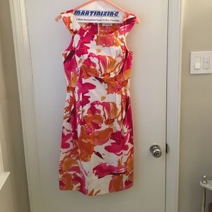 Calvin Klein sundress - pink, orange, and white